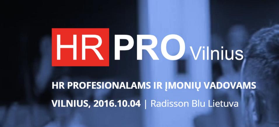 Apie storrytelling'ą HR PRO 2016 konferencijoje