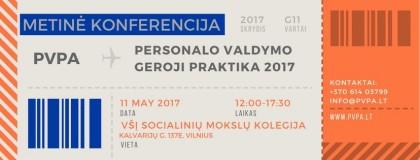 Metinė PVPA konferencija 2017